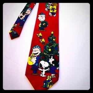 Vintage Peanuts Christmas Tie NWT🔥